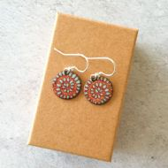 Janine Partington Round Shell Drop Earrings